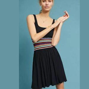 Anthropologie Bailey 44 Crochet-Waist Black Dress